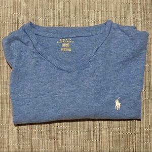 Polo Ralph Lauren V-Neck Cotton T-Shirt Size Med